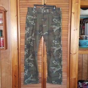 Levi's Mens Straight Camo Jeans